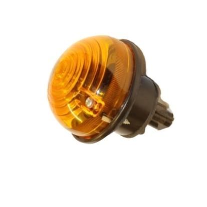 Lanterna de seta traseira amarela redonda c/ soquete para Defender
