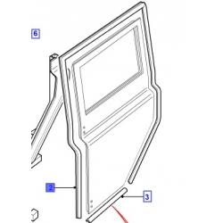 Borracha da porta traseira direita Defender