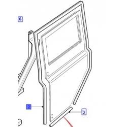 Borracha da porta traseira esquerda Defender